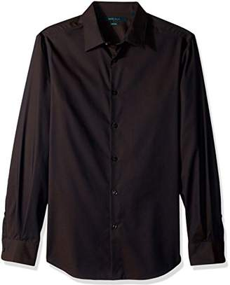 Perry Ellis Men's Travel Luxe Solid Non-Iron Twill Shirt