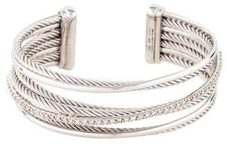David Yurman Diamond Crossover Four-Row Cuff