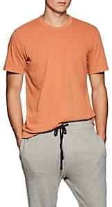 James Perse Men's Cotton Crewneck T-Shirt - Orange
