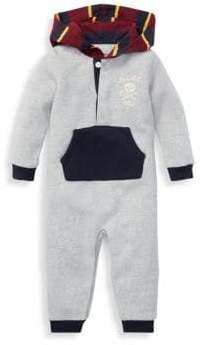 Ralph Lauren Baby Boy's Hooded Fleece Pouch Coverall