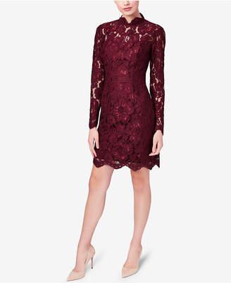 Betsey Johnson Illusion Lace Mock-Neck Sheath Dress