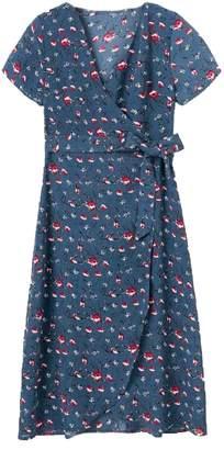 Goodnight Macaroon 'Devon' Floral Print Wrap Dress