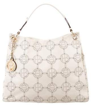 Henri Bendel Perforated Leather Shoulder Bag