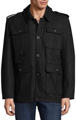 VINTAGE LEATHER Vintage Leather Military Inspired Wool Blend Coat