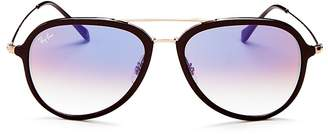 Ray-Ban Brow Bar Aviator Sunglasses, 57mm