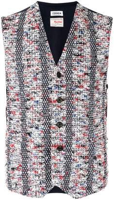 Coohem buttoned tweed vest