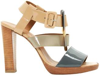 Hermes Patent leather sandals