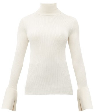 Proenza Schouler Split Cuff Silk Blend Roll Neck Sweater - Womens - Ivory