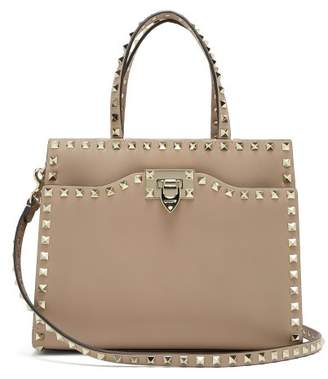 Valentino Rockstud Small Leather Bag - Womens - Nude