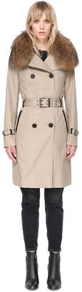 Mackage Karolina Double-Breasted Belted Trench Coat