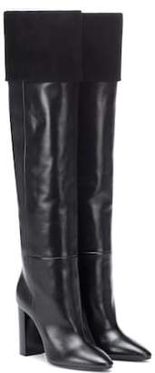 Saint Laurent Lou 95 leather and suede boots