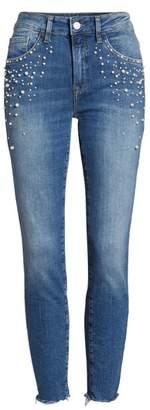 Mavi Jeans Tess Faux Pearl Super Skinny Jeans
