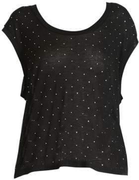 Isabel Marant Women's Mag Embellished Tee - Black - Size Small
