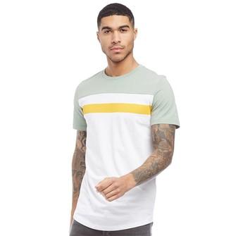 94b483099 Jack and Jones Mens Caddie T-Shirt Optic White/Total Eclipse