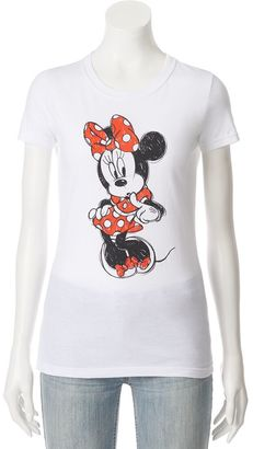 Disney's Minnie Mouse Juniors' Short Sleeve Graphic Tee $24 thestylecure.com