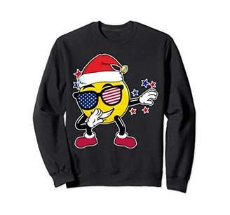 Christmas Shirts for Boys Dabbing Emoji Santa Kids Xmas Gift