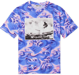 McQ Appliquéd Printed Cotton-Jersey T-Shirt