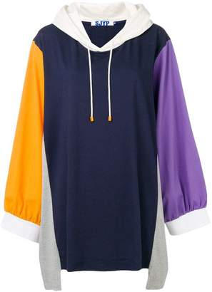 Sjyp multipatched hoodie dress