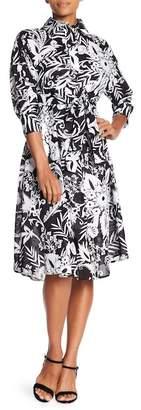 Eva Franco Matilda Printed Midi Shirt Dress
