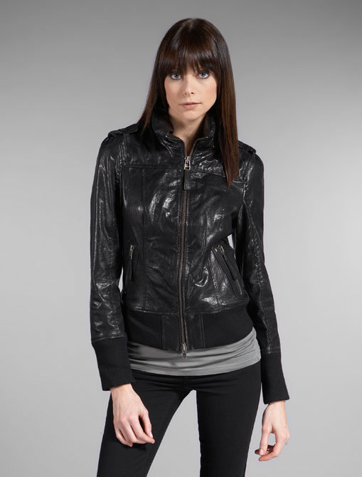 Mackage Leather Bomber