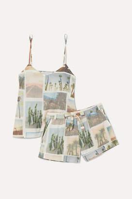 Desmond & Dempsey California Printed Cotton-voile Pajama Set - White