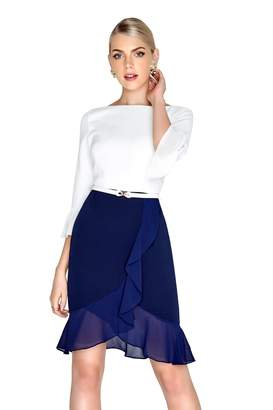 Paper Dolls Outlet Cream Navy Dress