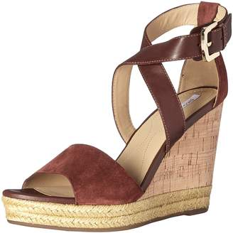 Geox Women's D Janira E Wedges, Military/Brown
