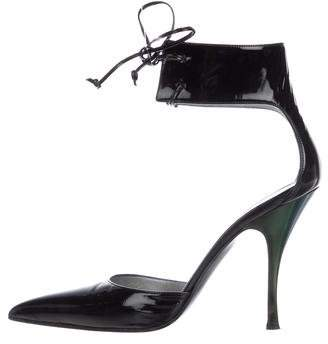 Gucci Patent Leather Ankle Cuff Pumps