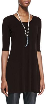 Eileen Fisher Half-Sleeve Silk Jersey Tunic, Petite $178 thestylecure.com