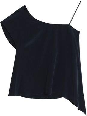 Charli One-Shoulder Silk-Satin Top