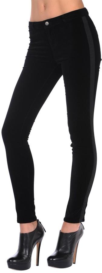 J Brand Tuxedo Velveteen Legging in Black