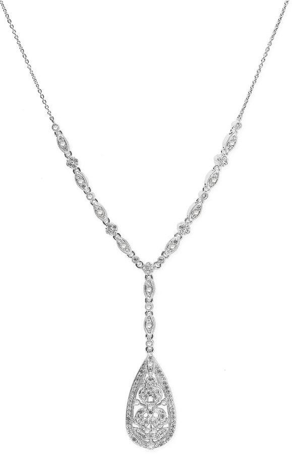 Nadri Floral Lace Necklace