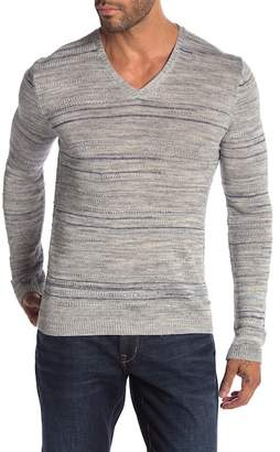 John Varvatos Marled Knit V-Neck Sweater
