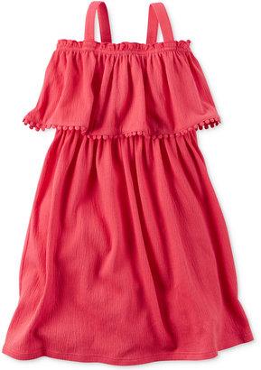 Carter's Pom-Pom Ruffle Dress, Toddler Girls (2T-4T) $26 thestylecure.com
