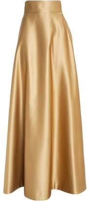 Temperley London Flared Satin Maxi Skirt