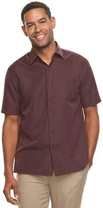 Croft & Barrow Men's Classic-Fit Textured Microfiber Button-Down Shirt