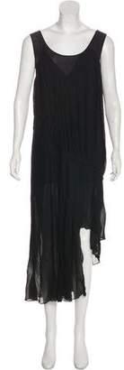 Acne Studios Asymmetrical Plissé Dress