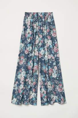 H&M Wide-leg Pants - Blue