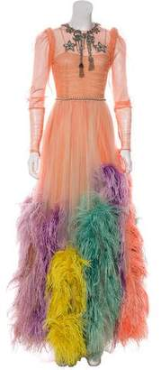 Gucci 2016 Embroidered Tulle Gown