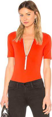 Frame Zip Up Bodysuit
