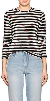 Proenza Schouler Women's Floral & Striped Cotton T-Shirt