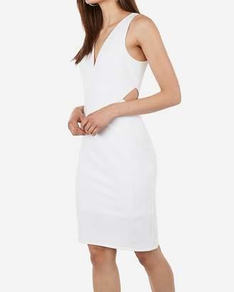 Express Seamed Side Cut-Out Sheath Dress