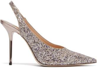 Jimmy Choo Ivy 100 Glitter Slingback Pumps - Womens - Silver Multi
