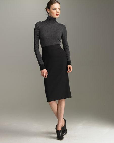 Dolce & Gabbana Stretch-Wool Pencil Skirt