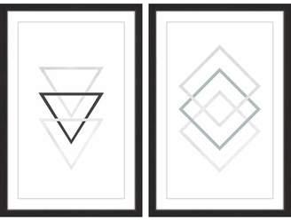 Victoria's Secret Mack & Milo 'Three Three Diptych' 2 Piece Framed Graphic Art Print Set