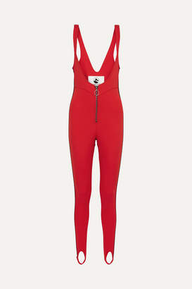 Cordova The Vail Striped Stirrup Ski Suit - Red