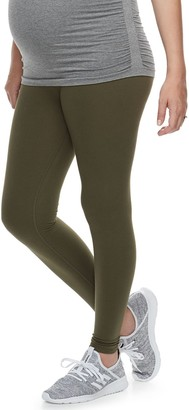 A Glow Maternity a:glow Belly Panel Solid Leggings