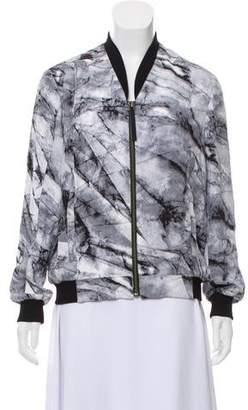 Helmut Lang Silk Printed Bomber Jacket