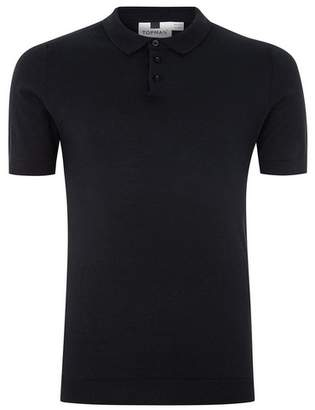 Topman Mens Navy Muscle Knitted Polo