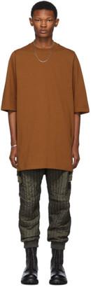 Rick Owens Tan Crewneck T-Shirt